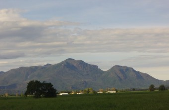 The stunning view of Hinchinbrook Island relaxing on the back deck of the unit.
